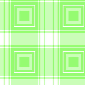 geometric plaid with squares