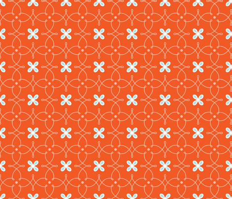 Fine Curves - Orange fabric by kayajoy on Spoonflower - custom fabric