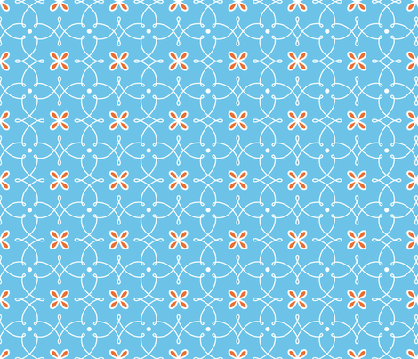 Fine Curves - Blue fabric by kayajoy on Spoonflower - custom fabric