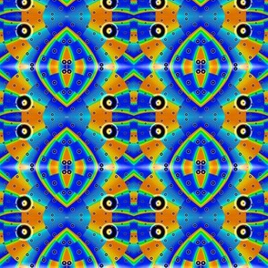 Blue, Green, and Gold with Circles