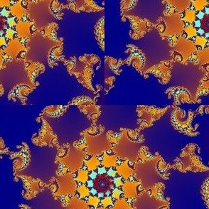 Jewel Tone Fractal Spirals of Peace