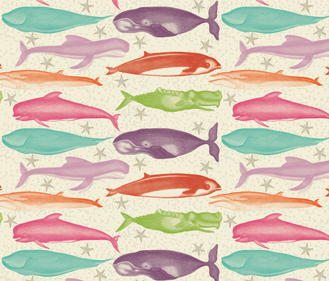 whales fabric by natasha_k_ on Spoonflower - custom fabric