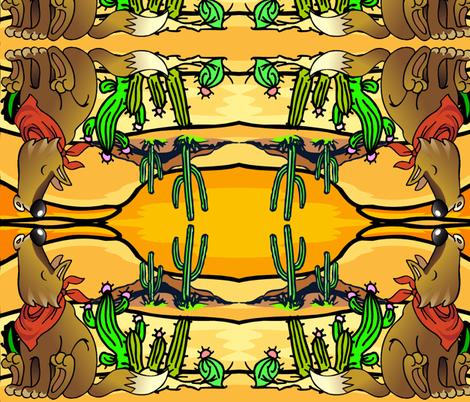 COYOTE DESERT fabric by bluevelvet on Spoonflower - custom fabric