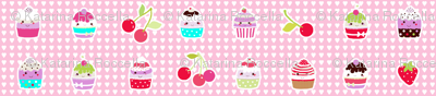 cupcakes with hearts background