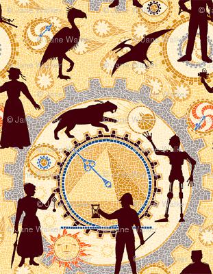 Steampunk Mosaic Time Machine -- Tiny version  ©2012 by Jane Walker