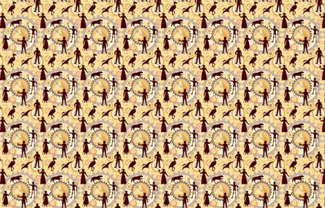 Steampunk Mosaic Time Machine -- Tiny version  ©2012 by Jane Walker fabric by artbyjanewalker on Spoonflower - custom fabric