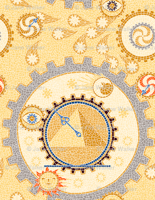 Steampunk Mosaic Time Machine basic -- Tiny version  ©2012 by Jane Walker