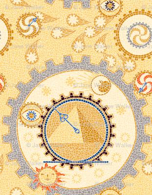 Steampunk Mosaic Time Machine basic -- Tiny version  ©2012 by Jane Walker