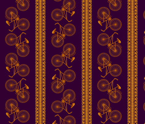 I want to ride my bicycle majesty fabric by glimmericks on Spoonflower - custom fabric