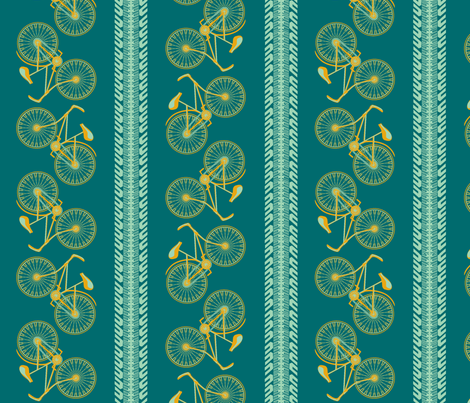 I want to ride my bicycle carib fabric by glimmericks on Spoonflower - custom fabric