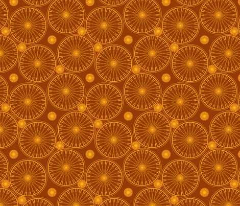 bicyclewheels_and_gears saddle fabric by glimmericks on Spoonflower - custom fabric