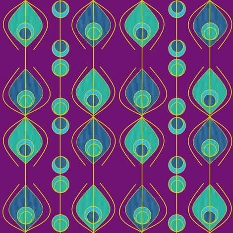 Peacock feathers variation fabric by squeakyangel on Spoonflower - custom fabric