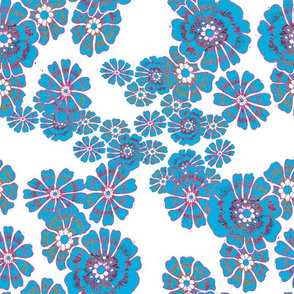 vintage pop retro flowers