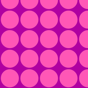 Big Dots in Purple and Pink