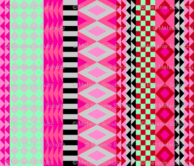 Cheater quilt - pink