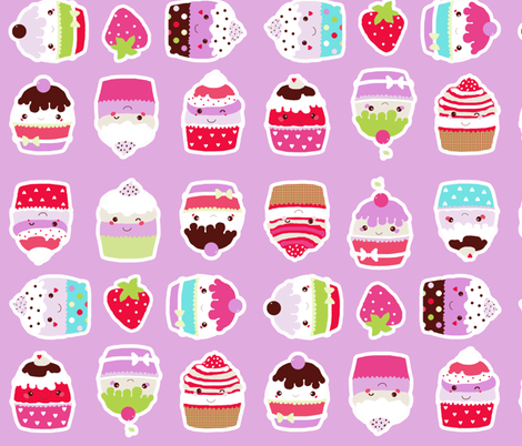 cupcakes bigger size fabric by katarina on Spoonflower - custom fabric