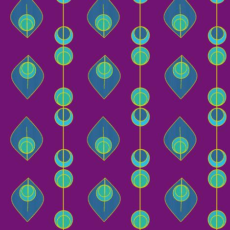 Peacock feathers 4 fabric by squeakyangel on Spoonflower - custom fabric