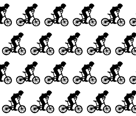 Bike Boy fabric by tomatojam on Spoonflower - custom fabric