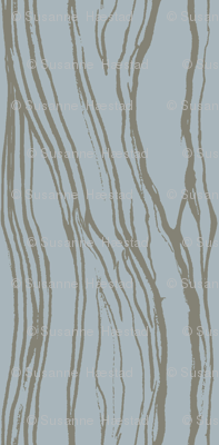 Brushstroke dark beige on soft blue