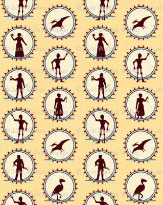Steampunk Character Silhouettes -- Large version  ©2012 by Jane Walker