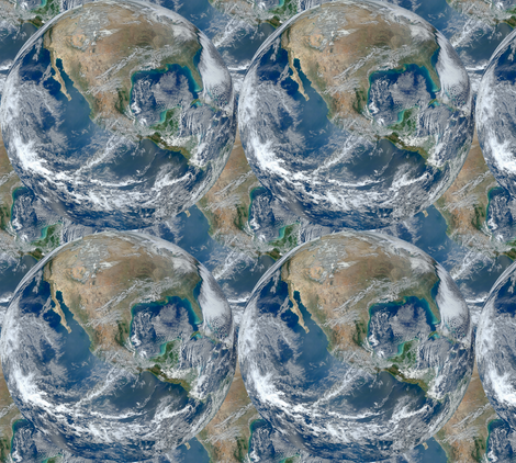 Final Frontier Collection ~Blue Marble ~ Repeat fabric by peacoquettedesigns on Spoonflower - custom fabric