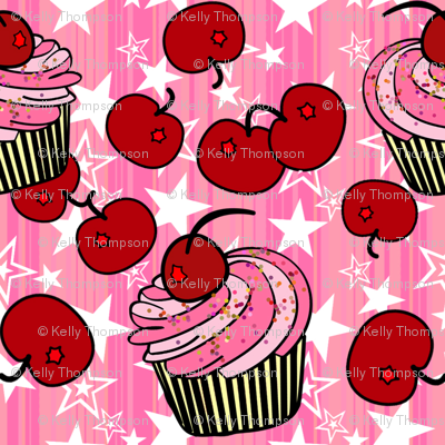 Cherry Cup Cakes