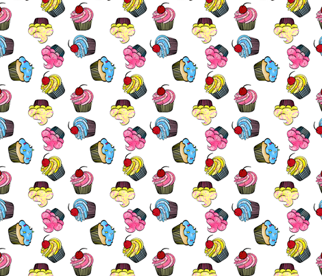 Cup Cakes fabric by mystikel on Spoonflower - custom fabric