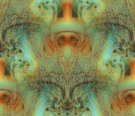 Final Frontier ~ Von Karman Vortices III Brightened fabric by peacoquettedesigns on Spoonflower - custom fabric