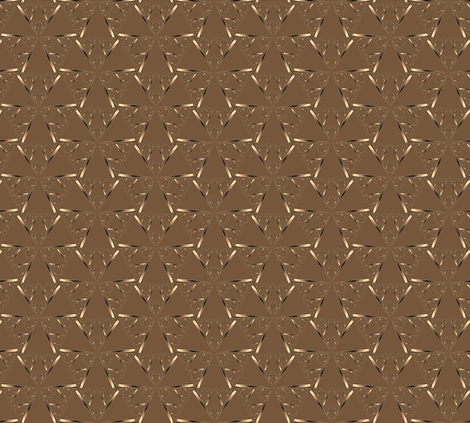 Gold on Brown Pinwheels © Gingezel™ 2012 fabric by gingezel on Spoonflower - custom fabric