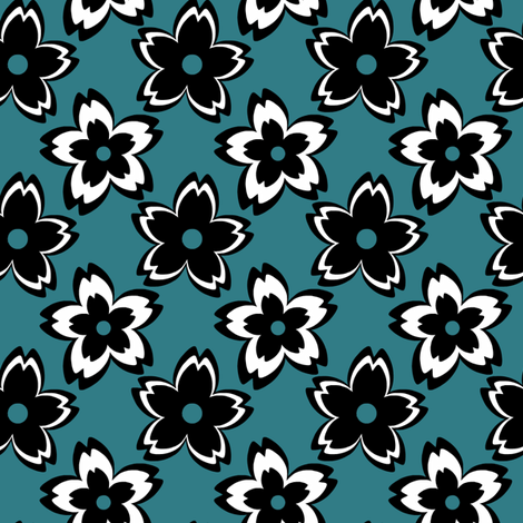 Graphic Flora fabric by fibrefreak on Spoonflower - custom fabric