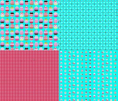 cupcake coordinates in aqua-red