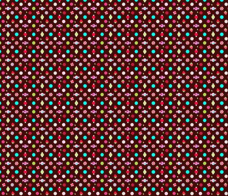 cupcake coordinates in brown fabric by katarina on Spoonflower - custom fabric