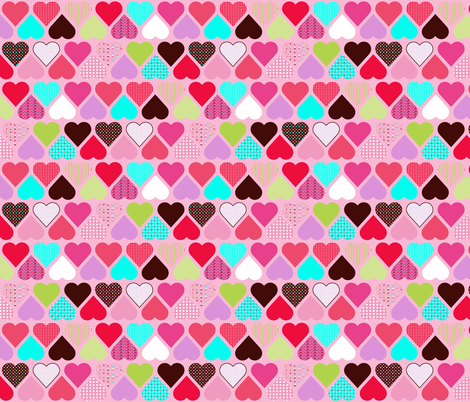 valentine cupcake fabric by katarina on Spoonflower - custom fabric