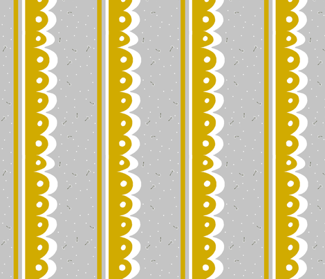 Dandelion Scallops fabric by themagpiecat on Spoonflower - custom fabric