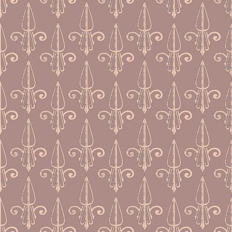 fleurdelis-pjr_woodrose 2 fabric by glimmericks on Spoonflower - custom fabric