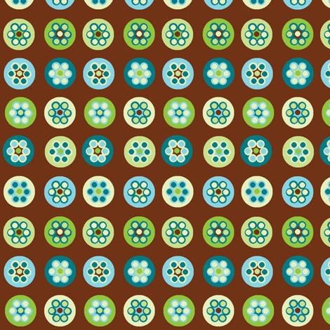 Beads on brown fabric by squeakyangel on Spoonflower - custom fabric