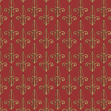 fleurdelis-pjr_rustyduck2 fabric by glimmericks on Spoonflower - custom fabric
