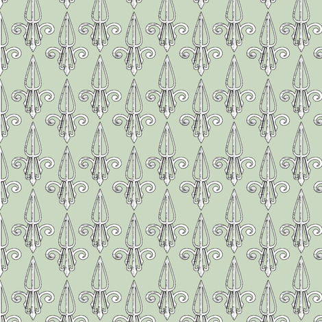 fleurdelis-pjr_powder_room2 fabric by glimmericks on Spoonflower - custom fabric