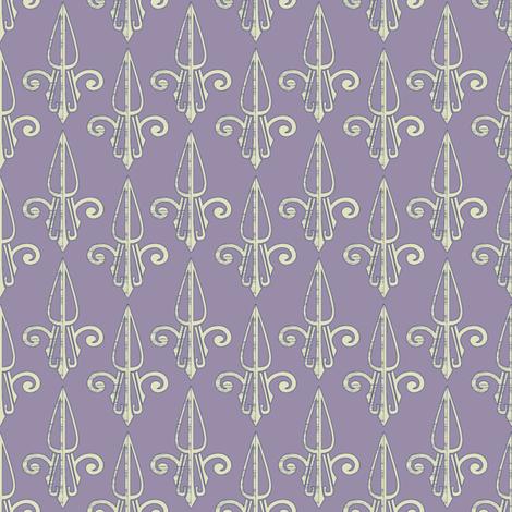 fleurdelis-pjr_lilac2 fabric by glimmericks on Spoonflower - custom fabric
