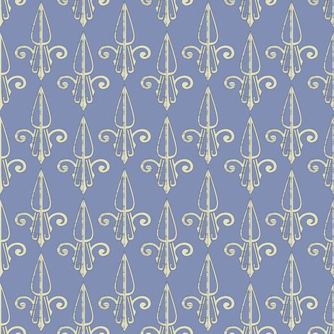 fleurdelis-pjr_blue dust 2 fabric by glimmericks on Spoonflower - custom fabric