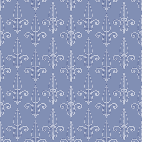 fleurdelis-pjr_periwinkle2 fabric by glimmericks on Spoonflower - custom fabric