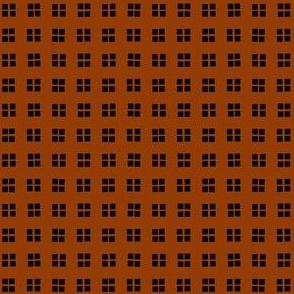 block print adobe brown