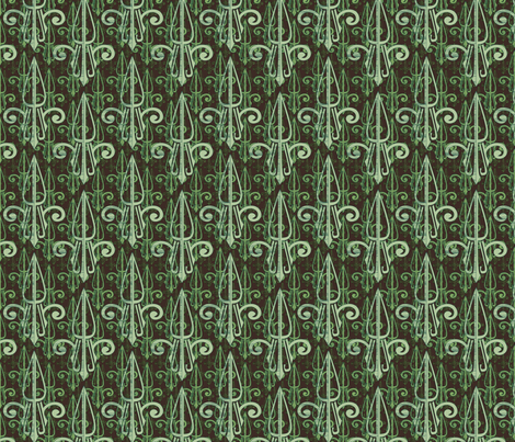 fleurdelis-pjr_triple_mintcookie fabric by glimmericks on Spoonflower - custom fabric
