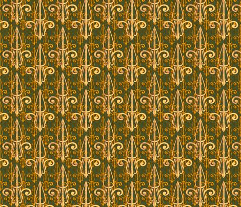fleurdelis-pjr_triple_gold fabric by glimmericks on Spoonflower - custom fabric