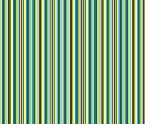 Stripes in blues, greens, cream & brown fabric by squeakyangel on Spoonflower - custom fabric