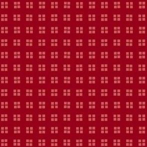 block print carmine red