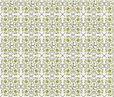 moss leaf lattice fabric by wednesdaysgirl on Spoonflower - custom fabric