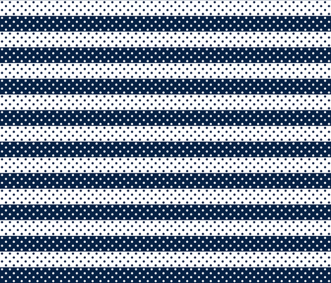 dotted stripes dark navy fabric by georgeandgracie on Spoonflower - custom fabric