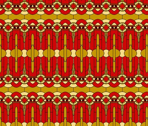 Art_Deco_russet fabric by mammajamma on Spoonflower - custom fabric