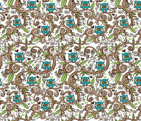 Owly fabric by tessiegirldesigns on Spoonflower - custom fabric